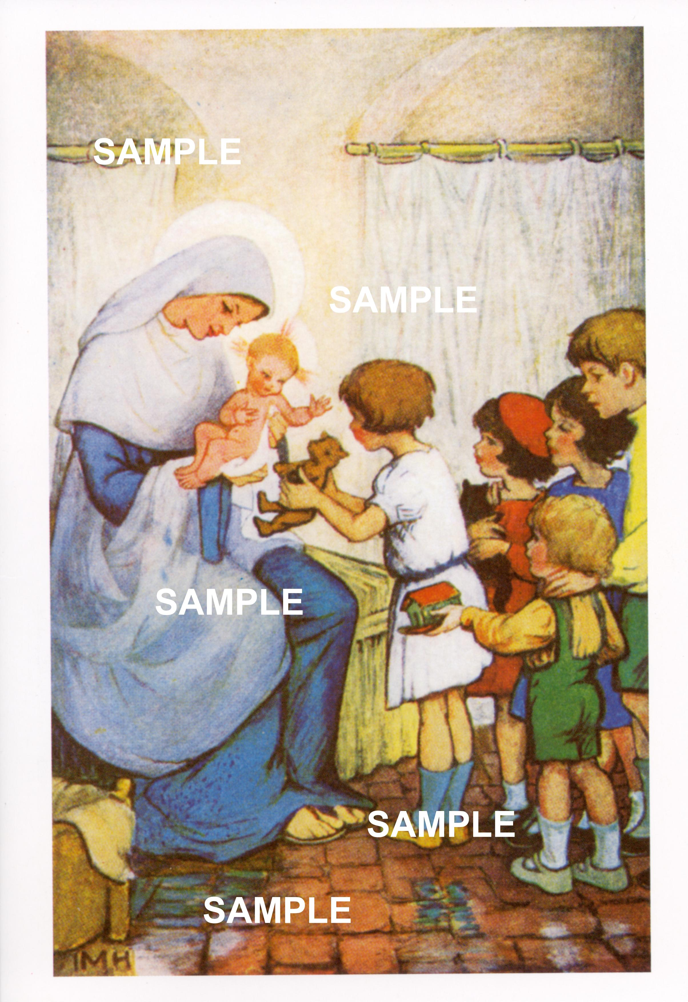Society of the faith greetings cards mary jesus and children kristyandbryce Images