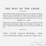 Brochure for Stations of the Cross, 1930-35 at the latest . Stations designed Ian Howgate and the wooden originals carved by William Wheeler.